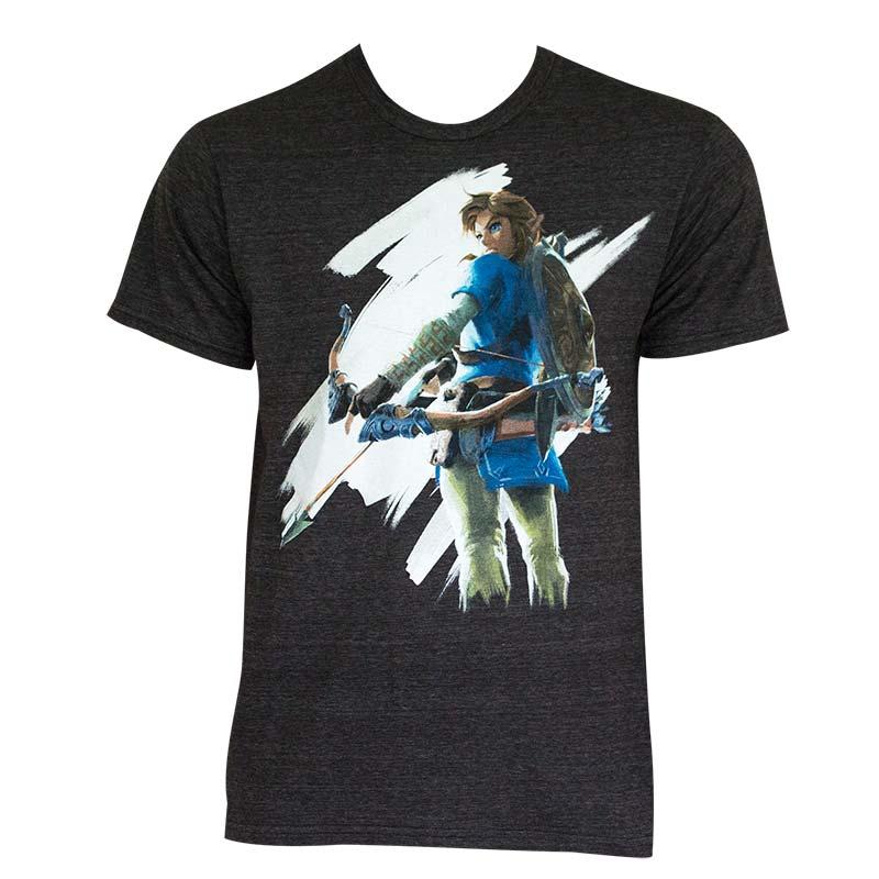 The Legend Of Zelda Men's Gray Breathe Of The Wild T-Shirt