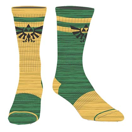 The Legend Of Zelda Flipped Colors Men's Crew Socks