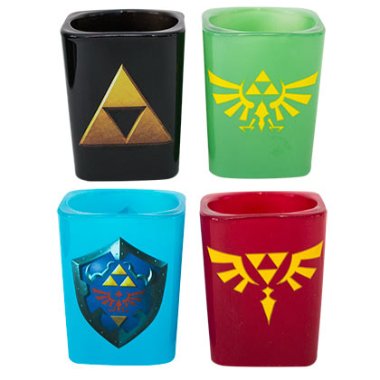 The Legend Of Zelda 4 Pack Square Shot Glasses