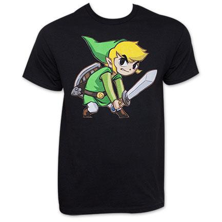 Nintendo Black Big Link Zelda T-Shirt