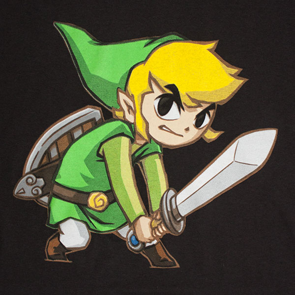 Nintendo Black Big Link Zelda T-Shirt