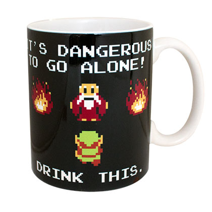 Legend Of Zelda Black Drink This Ceramic Coffee Mug