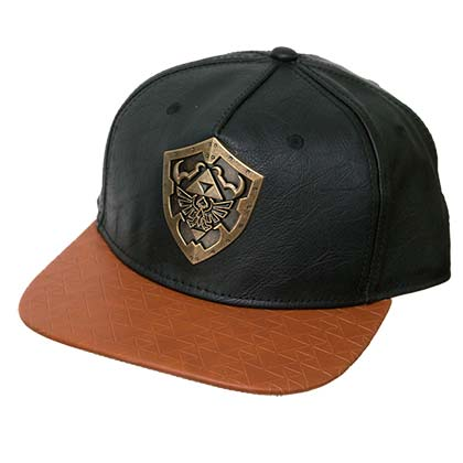 The Legend Of Zelda Metal Shield Faux Leather Snapback Hat