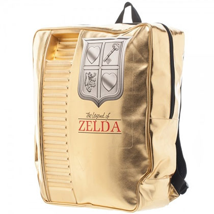 The Legend of Zelda Nintendo Gold Cartridge Backpack