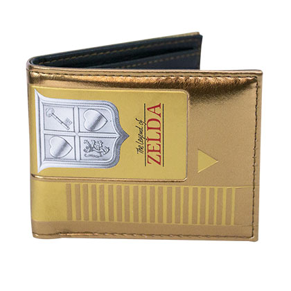 Legend Of Zelda Gold Nintendo Cartridge Wallet