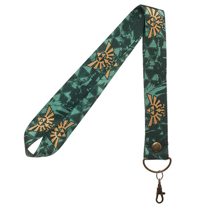 The Legend Of Zelda Wide Green Triforce Lanyard