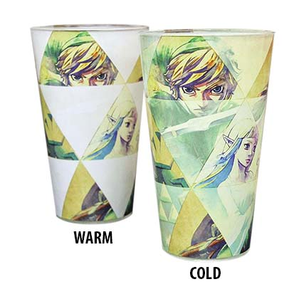 The Legend Of Zelda Triforce Image Color Changing Pint Glass
