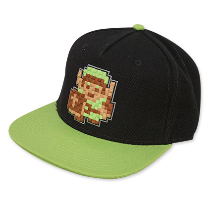 The Legend Of Zelda Black And Green Pixel Hat