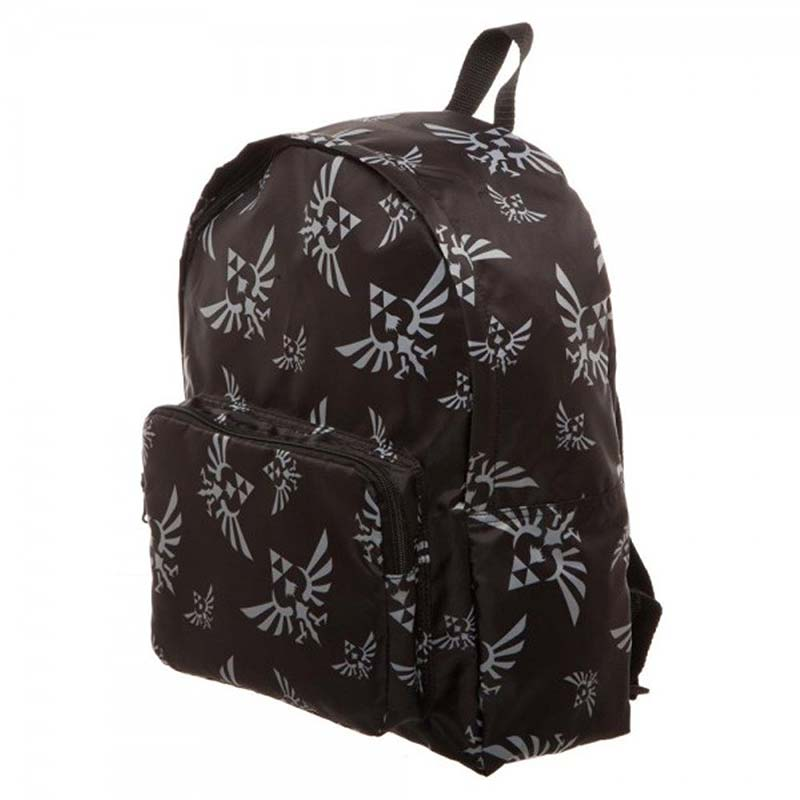 The Legend Of Zelda Packable Black Backpack