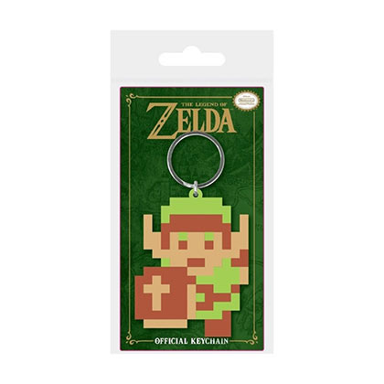 Legend Of Zelda Pixel Link Rubber Keychain