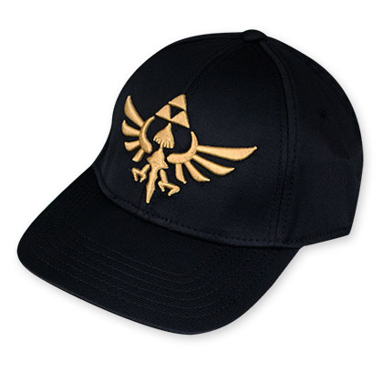 The Legend Of Zelda Men's Black Triforce Flex Fit Hat