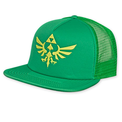 Bucket Hat Logo Zelda Logo Green Trucker Hat