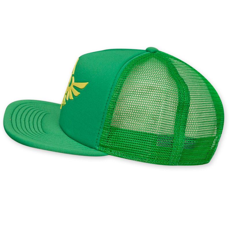 3ef27903 Zelda Green Mesh Snapback Hat | SuperheroDen.com