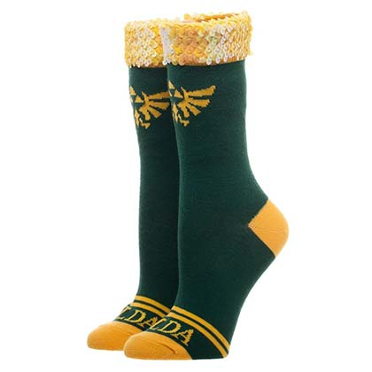 Legend of Zelda Juniors Sequin Socks