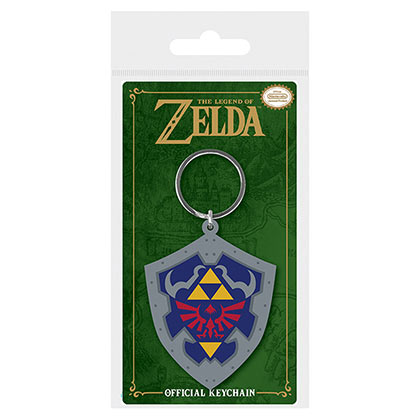 Nintendo Legend Of Zelda Shield Rubber Keychain