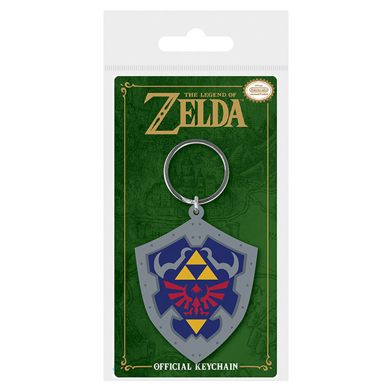 Legend Of Zelda Shield Rubber Keychain