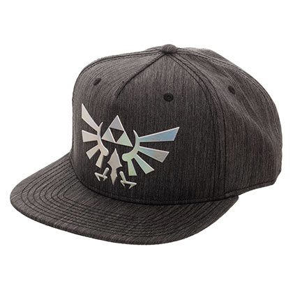 Legend Of Zelda Grey Iridescent Logo Snapback Hat