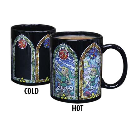 The Legend Of Zelda Black Heat Reveal Stained Glass Mug