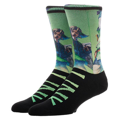 The Legend Of Zelda Link Sublimated Men's Crew Socks