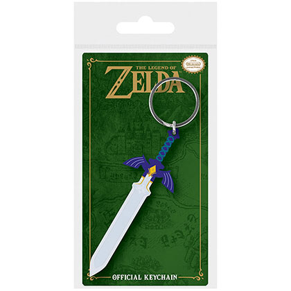 Nintendo Legend Of Zelda Master Sword Rubber Keychain