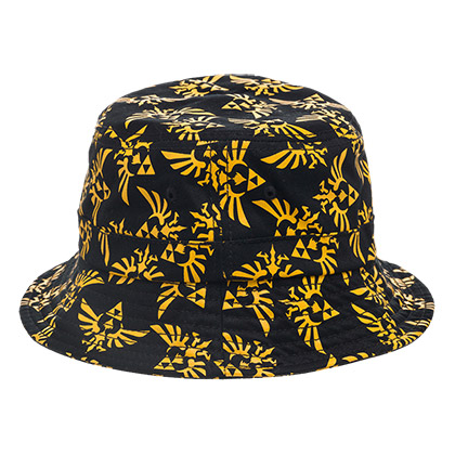Zelda Men's Black Triforce Bucket Hat