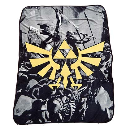 The Legend Of Zelda Triforce Plush Blanket