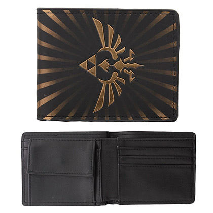 Zelda Black Triforce Wallet