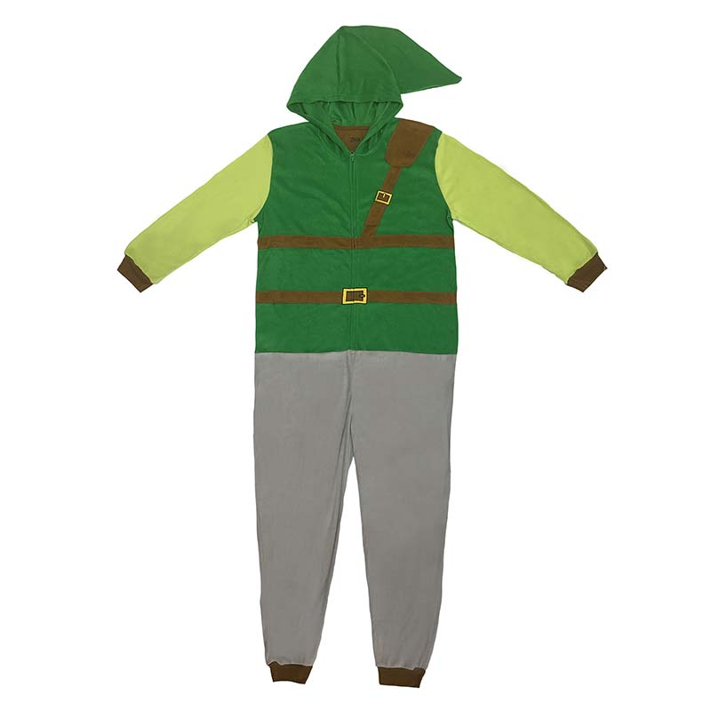 The Legend Of Zelda Link Pajama Union Suit Men's Costume
