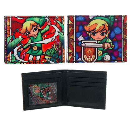 Zelda Wind Waker Stained Glass Wallet