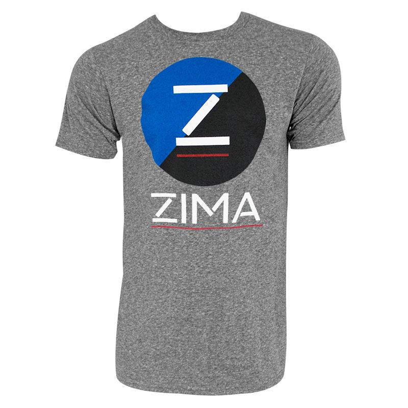 Zima Clearmalt Logo Retro Brand Men's Gray T-Shirt