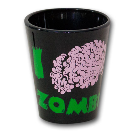 Zombie Brain Shot Glass