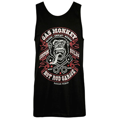 Gas Monkey Hot Rod Garage Black Tank Top