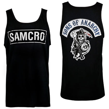 Sons Of Anarchy SAMCRO Men's Black Tank Top