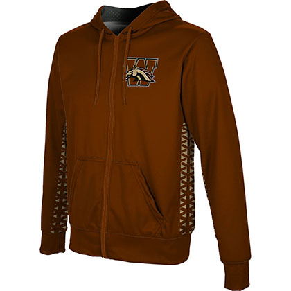 ProSphere Men's Western Michigan University Geometric Fullzip Hoodie