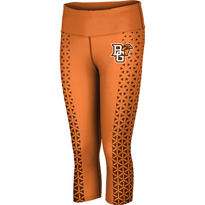 ProSphere Women's Bowling Green State University Geometric Capri Length Tight