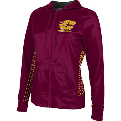 ProSphere Women's Central Michigan University Geometric Fullzip Hoodie