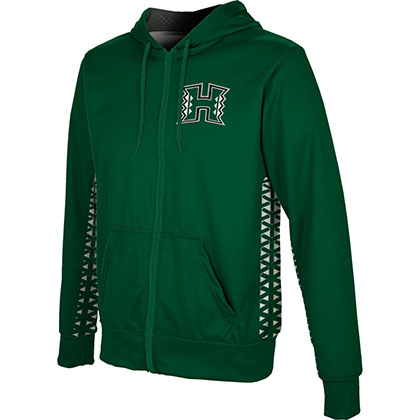 ProSphere Men's University of Hawaii Geometric Fullzip Hoodie