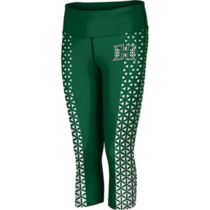 ProSphere Women's University of Hawaii Geometric Capri Length Tight