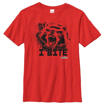 Guardians Of The Galaxy Furry Bite Red Youth T-Shirt