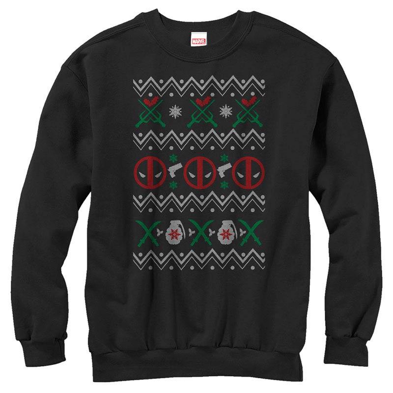 Deadpool Ugly Black Mens Long Sleeve T-Shirt