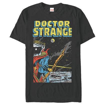 Dr. Strange Into Space Black Mens T-Shirt