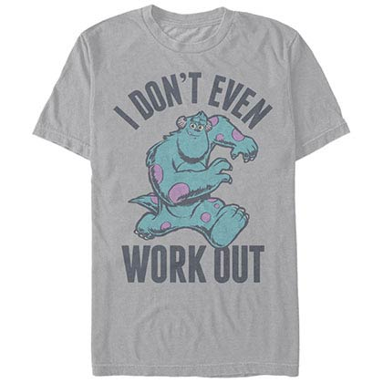 Disney Pixar Monsters Inc University Even Workout Gray T-Shirt