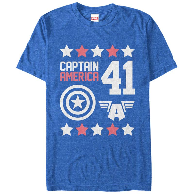 Captain America Cap Moto Blue Mens T-Shirt