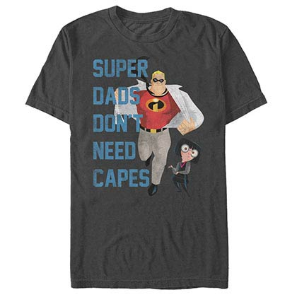 Disney Pixar The Incredibles Dont Need Capes Gray T-Shirt