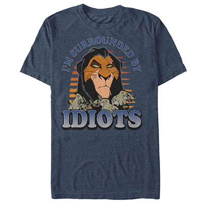 Disney Lion King Idiots Blue T-Shirt