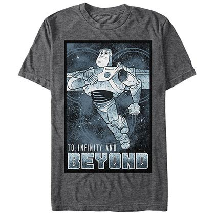 Disney Pixar Toy Story 1-3 Infinity Man Gray T-Shirt