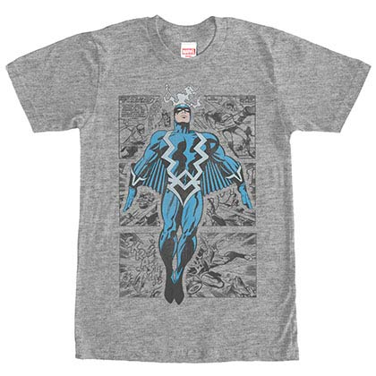 Marvel Teams Blackbolt Three Panel Gray Mens T-Shirt