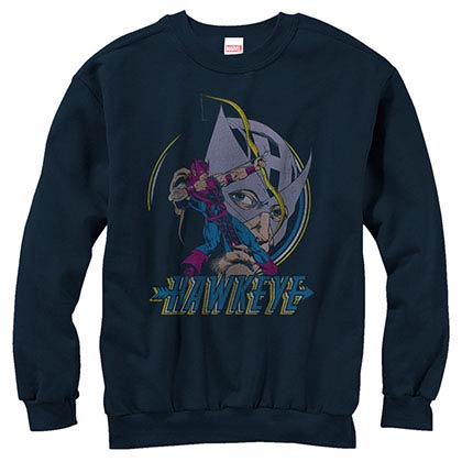 Hawkeye Nocking Point Blue Mens Long Sleeve T-Shirt