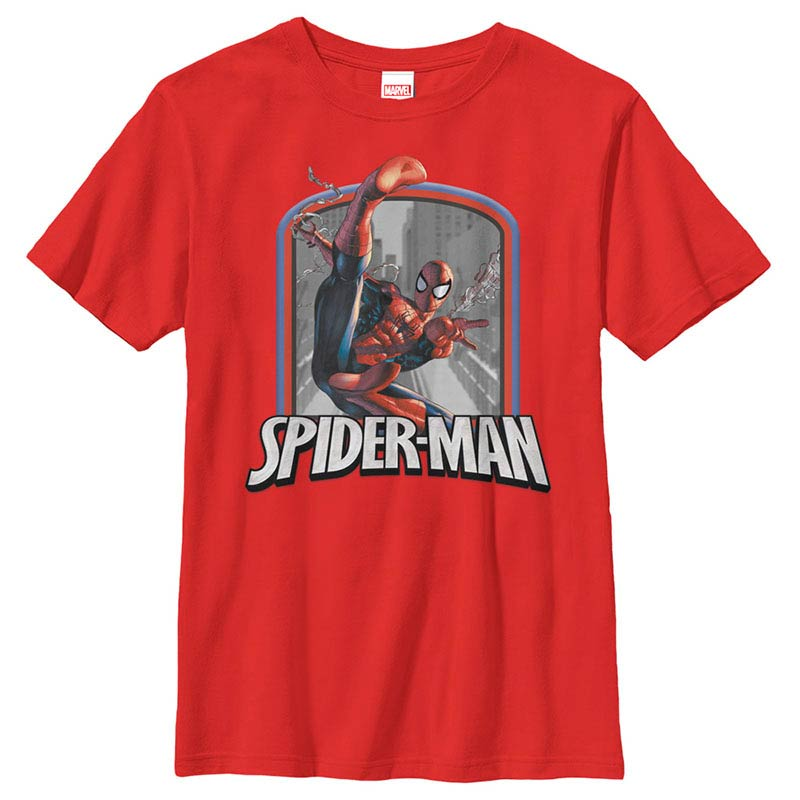 Spiderman Badge Red Youth T-Shirt