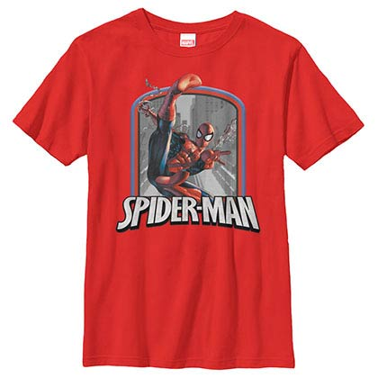 SpidermanBadge Red Youth T-Shirt